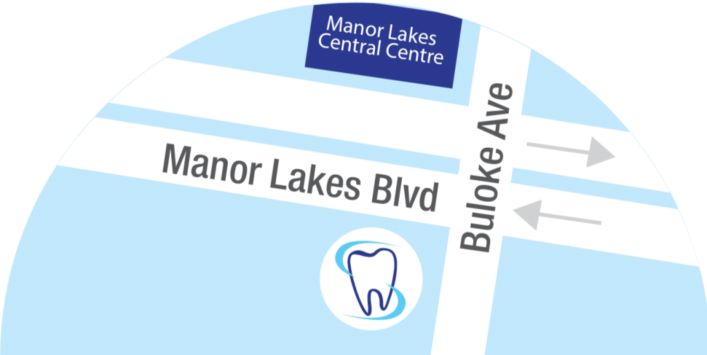 Manor Lakes Blvd Dental Centre is located at the intersection of Manor Lakes Blvd and Buloke Ave, opposite to the Manor Lakes Central Shopping Centre